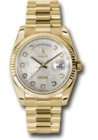 Rolex Watches: Day-Date President Yellow Gold - Fluted Bezel - President 118238 sjdp
