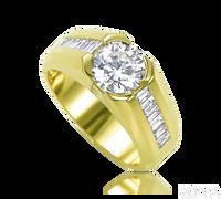 Ziva Two Carat Diamond Ring for Men