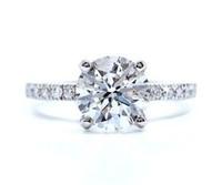 2.14 Cttw Round Brilliant Diamond Engagement Ring