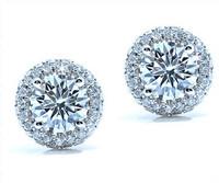 1.37 cttw Diamond Earrings In 18k White Gold