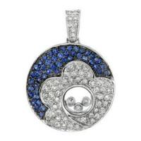 1.39ct Tw Sapphire & Diamond Pendant