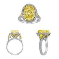 18k Yellow Gold & Platinum Diamond Ring (ydov 6.35ct, Fyrd 0.40ct, Rd 0.93ct)