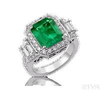 Ziva Large Vintage Emerald Ring