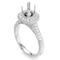 .83 Ct Diamond Engagement Ring Setting