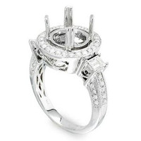 .90 Cttw Diamond Engagement Ring Setting