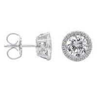 1.60 Ct Diamond Stud Earrings (rd 0.24cttw, Rd 1.36cttw)