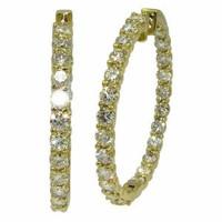 7.47 cttw Diamond Inside-Out Hoop Earrings