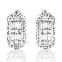 1.13ct Diamond Earrings In 14k White Gold