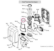 Motor 120V (includes Motor Gasket/Ring)