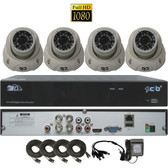True High Definition Full HD 4CH 1080P DVR system with 4 2Megapixel Vandal Dome Camera Network Remote Viewing --- H80P04K2T03W-4