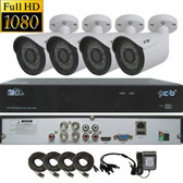 High Definition Full HD 4CH 1080P DVR system with 4 2-Megapixel Bullet Camera Network Remote Viewing --- H80P04K1T56-4