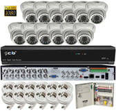 True High Definition Full HD 16CH 1080P DVR system with 12 2Megapixel Vandal Dome Camera