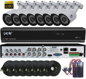 True Full HD-TVI / IP Hybrid 8CH 1080P DVR Security System with 8x2.1Megapixel Bullet Color Camera Network Remote Viewing
