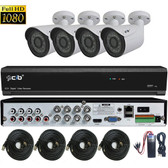 True Full HD-TVI/AHD/IP/960H Hybrid 8CH 1080P DVR Security System with 4x2.1Megapixel Bullet Color Camera Network Remote Viewing