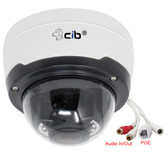 5 Megapixel Lens 2.8-12mm 3X Manual Focus  PTZ IP Dome H264/H265 IP67 Network Camera, Audio In and Out