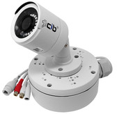 CIB 5 Megapixel  H264/H265 POE IP67 Vandal Bullet IP Security Color Camera, Wide Lens 2.8mm, Audio In and Out with Junction Box