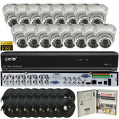 True Full Hybrid 16CH 5M DVR Security System with 16x5-Megapixel Dome Color Camera Network Remote Viewing