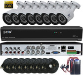 True Full Hybrid 8CH 5M DVR Security System with 8x5-Megapixel Bullet Color Camera Network Remote Viewing