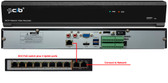 16CH NVR with an External 8CH PoE Switch 8MP/5MP/4MP (3840x2160 to 2592x1520) Magepixel Super HD HDMI 4K Output H.265 POE Network Video Recorder