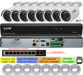 16CH NVR 8xPOE plus 8xNON-POE 8MP/5MP/4MP H.265,HDMI 4K Output, 8x5MP H.265 POE Weatherproof VandalProof Bullet IP Cameras 4TB HDD