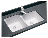 Swanstone US-3015 Undermount Double Bowl - Aggregate Color