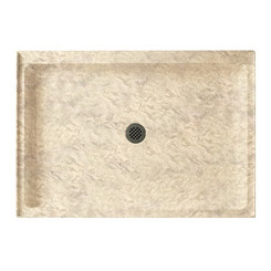 "Swanstone SS-3442 Single Threshold Shower Floor 34"" x 42"" - Solid Color"