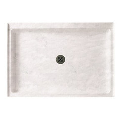 "Swanstone SS-3448 Single Threshold Shower Floor 34"" x 48"" - Solid Color"