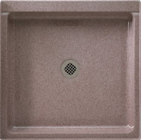 "Swanstone SS-3636 Single Threshold Shower Floor 36"" x 36"" - Solid Color"