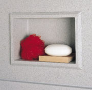 Swanstone AS-1075 Recessed Accessory Shelf - Aggregate Color