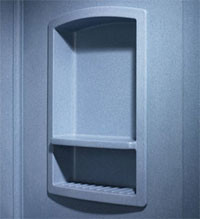 Swanstone RS-2215 Recessed Shampoo Shelf - Solid Color