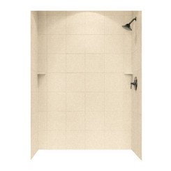 "Swanstone SQMK96-3662 Shower Square Tile Wall Kit 36"" x 62"" x 96"" - Solid Color"
