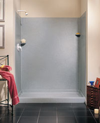 "Swanstone SK-366072 Solid Surface Shower Wall Kit 36"" x 60"" x 72"" - Aggregate Color"