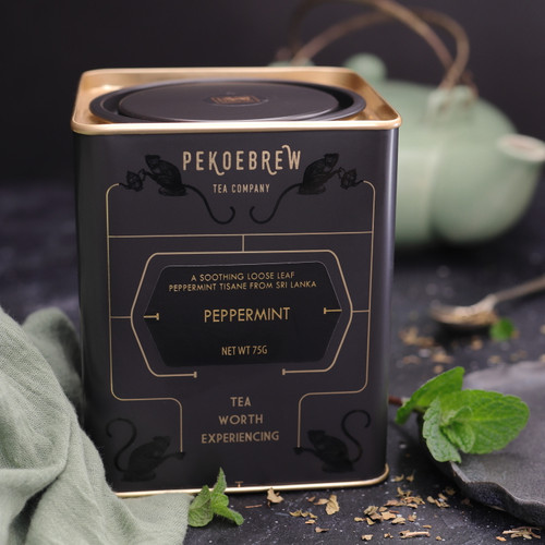 A refreshing and highly aromatic loose leaf tisane of mint leaves from Sri Lanka. A delectable herbal tea.