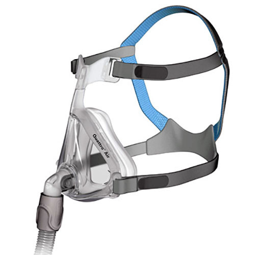 ResMed Quattro Air Full Face Mask Complete System-With Headgear