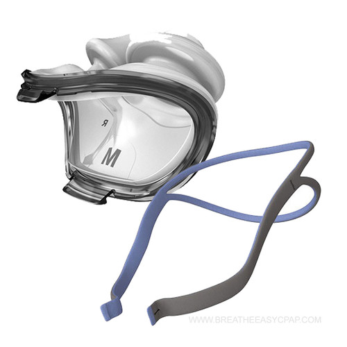 AirFit P10 CPAP Nasal Pillow Mask - without headgear (62922) + AirFit P10 Headgear - One size fits all (62935) Please see below  Product Features  Nasal pillow masks can be a great investment for sleep apnea patients who prefer less coverage but don't want to sacrifice a pleasant fit. The AirFit P10, manufactured by ResMed, is an excellent option, providing the soft sensation of plush nasal pillows along with a straightforward design and the newest updates in exhaust diffusion for a CPAP experience that is gentle, smooth, and dependable.  Features      Light and Open Quality     Deluxe Nasal Pillows     Sophisticated QuietAir Vents   Light and Open Quality  Fed up with wrangling bulky frames into place and dealing with cumbersome extra pieces of equipment? The intuitive design of the AirFit P10 makes therapy not only tolerable, but convenient as well. Once you feel the breeze on your face from the AirFit P10's open and clear quality, you'll never want to go back to other stuffy masks again. This mask seems to hover over your features, eliminating many of the agitations that other masks can cause. While some patients complain about too much pressure over the bridge of their noses, or unsightly dents and scratches that make them embarrassed to go about their days, the AirFit P10 promotes minimal contact. This mask rests lightly on your head without going light on the therapy airflow.  Deluxe Nasal Pillows  The AirFit P10 supplies patients with a deluxe nasal pillow that absorbs impact from your tossing and turning and affords your nose a truly luxurious experience. What good is a seal if it forces you to freeze in one awkward pose all night long? ResMed believes that effective therapy doesn't have to mean an immobile patient, which is why they've made the nasal pillow to be extra adaptable. The pillow's stems bend easily, shortening and lengthening as you turn to make sure therapy air reaches you at all times and in all sleep positions. To assist you in procuring the 