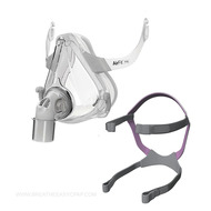 """The AirFit F10 For Her, a full-face mask manufactured by ResMed, was created to resolve your CPAP issues with a """"happily-ever-after."""" If you are a female sleep apnea patient or have smaller facial features, it can be a huge headache trying to wear standard masks. The AirFit F10 For Her not only provides a fit that contours smaller faces, but it promotes surprisingly little overall contact with your skin. You'll hardly believe you're wearing a full-face mask."""