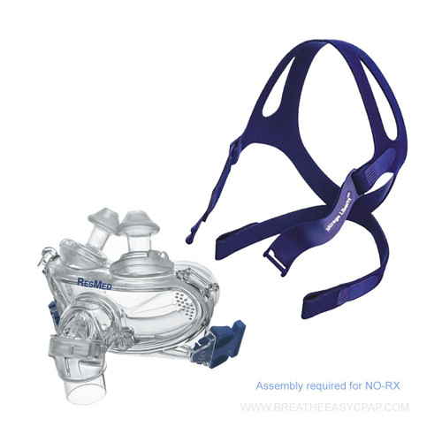 ResMed Mirage Liberty Full Face Mask Frame System Kit- NO RX REQUIRED TheMirage Liberty™  is a full  face mask that combines nasal pillows and a mouth cushion, creating a mask that is both unobtrusive and easy to use without compromising seal, stability and comfort. The mask incorporates vent holes and a built-in valve so that you can continue to breathe fresh air if the airflow to your mask is impeded for any reason.