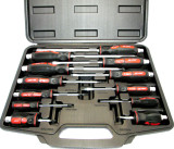 12 pc  Go-Through Screwdriver Set / Slotted / Pozi  By US. Pro 1503
