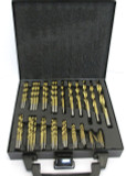 "230pc SAE / Imperial Titanium Coated Drill Bit Set For Metal 3/64"" - 1/2"" DR040"