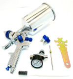 HVLP Spray Gun Kit With Regulator And 2 Nozzles By US PRO 8776 New Garages Etc