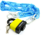 1m PVC Coated Chain & 55mm Weatherproof Padlock Bicycle / Motorbike Locks LK071