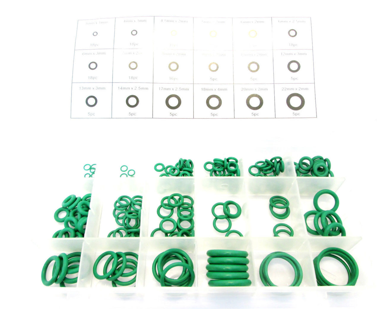 Rubber O Ring Set Seals Tap Washers Gaskets Assorted 205pc HNBR HW019