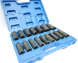 "1/2""DR 16pc Metric Deep Impact Socket Set 6 Point By Bergen 1315 New Garages Etc"