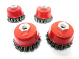 "Wire Cup Brush Wheel 3"" for 4-1/2"" 115mm Angle Grinder Twist Knot set of 4 WB001"