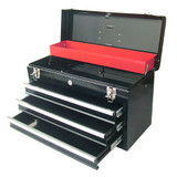 Portable 3 Drawer Toolbox / Chest / Cabinet Rack Auto Locking Drawers TBD133 New