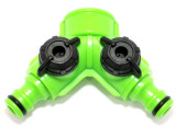 3 Way Hose Splitter with Dual Shut Off GD231 fits Hozelock ,Gardena ,UK sizes
