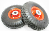 "10"" Pneumatic Wheels x 2 For Trolley, Dolly, Sack Truck New RM023"