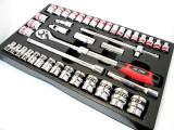 "42pc Metric & Imperial 1/2"" Dr Socket set New By US Pro 3265 Garages Etc"