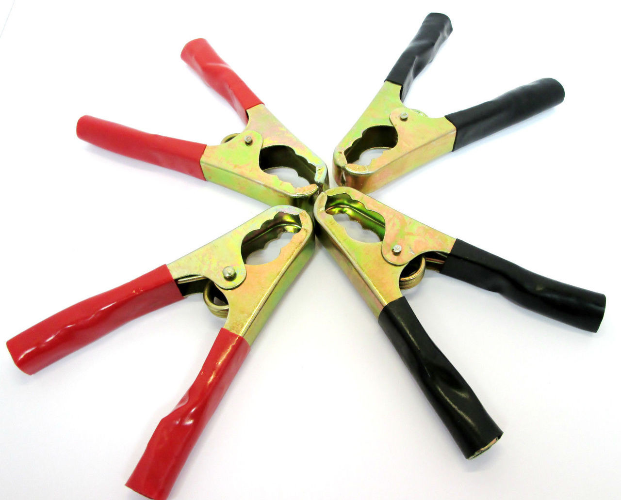 5x Pairs Of Black /& Red Small Crocodile Clips Insulated 38mm Alligator//Croc Clips