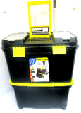 "18"" Mobile Organiser / Double Toolbox With Inner Tray TZ TB088 New"